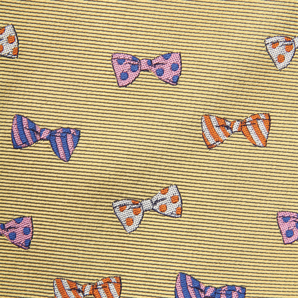 Woven Bowtie Pattern Gent - Gold
